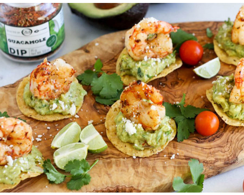 Grilled Shrimp Tostada Bites