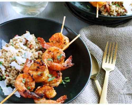 Spanish Grilled Shrimp Skewers