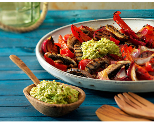 Grilled Veggies with Guacamole